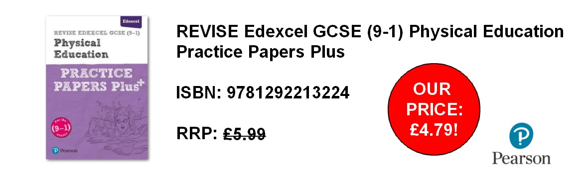 REVISE Edexcel GCSE (9-1) Physical Education Practice Papers Plus - our price £4.79!