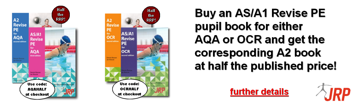 Buy an AS/A1 Revise PE pupil book for either AQA or OCR and get the corresponding A2 book at half the published price!