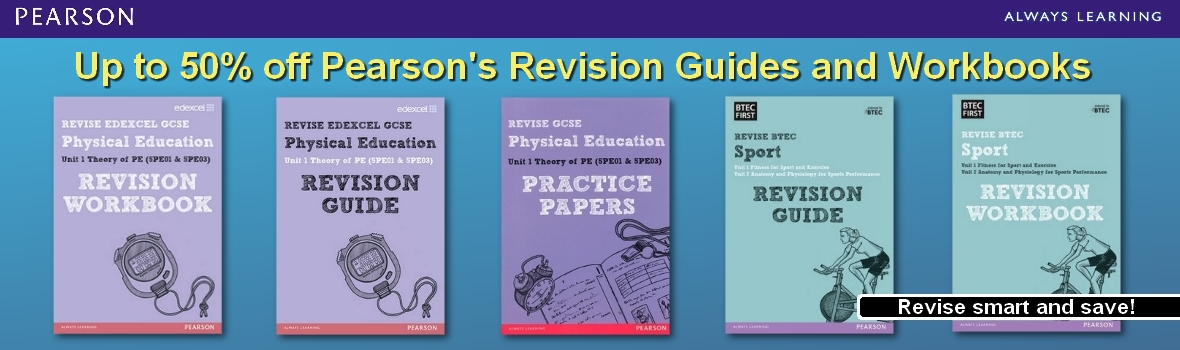 Up to 50% off Pearson's Revision Guides and Workbooks