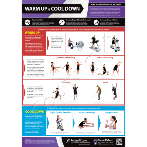 Warm Up & Cool Down A1 Laminated Poster (840mm X 595mm)