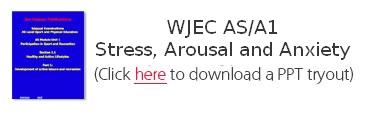 WJEC AS/A1 Stress, Arousal and Anxiety